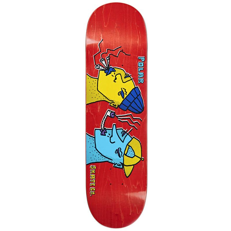 Polar Team Smoking Heads Skateboard Deck 8.375