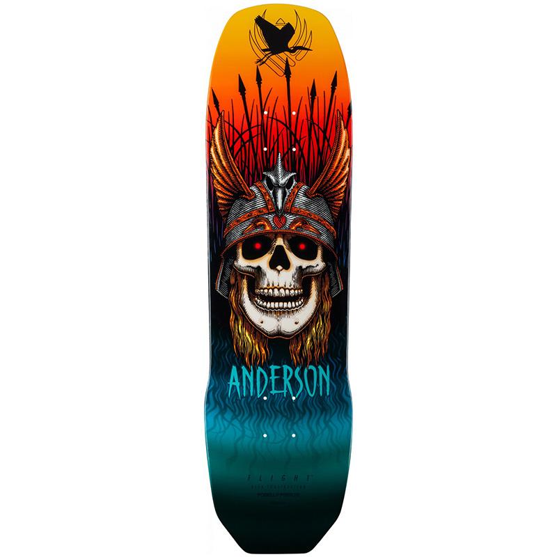 Powell Peralta Andy Anderson Heron Skull Flight Skateboard Deck Shape 289 8.45