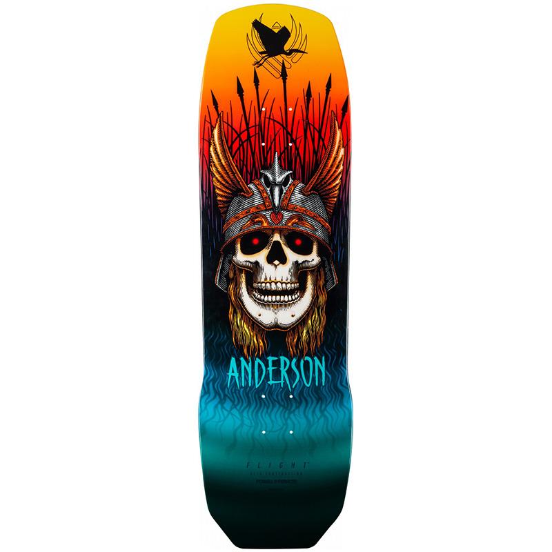 Powell Peralta Andy Anderson Heron Skull Flight Skateboard Deck Shape 290 9.13