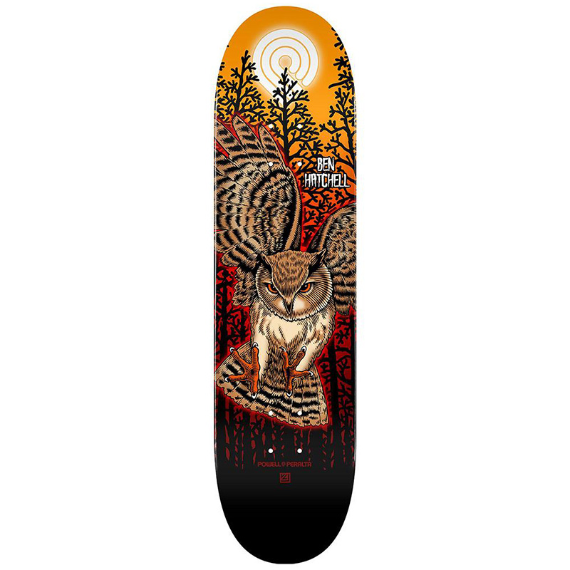 Powell Peralta Ben Hatchell Owl 2 Skateboard Deck Shape 248 8.25