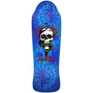Powell Peralta Bones Brigade Mcgill Blue Skateboard Deck 9.94