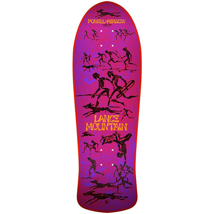 Powell Peralta Bones Brigade Mountain Red Skateboard Deck 10.0