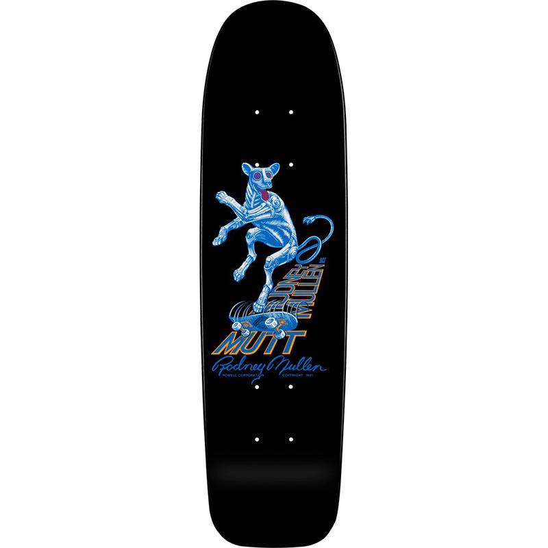 Powell Peralta Bones Brigade Rodney Mullen Mutt Black Skateboard Deck 7.13