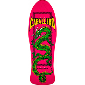 Powell Peralta Caballero Chinese Dragon Skateboard Deck Pink 10.0