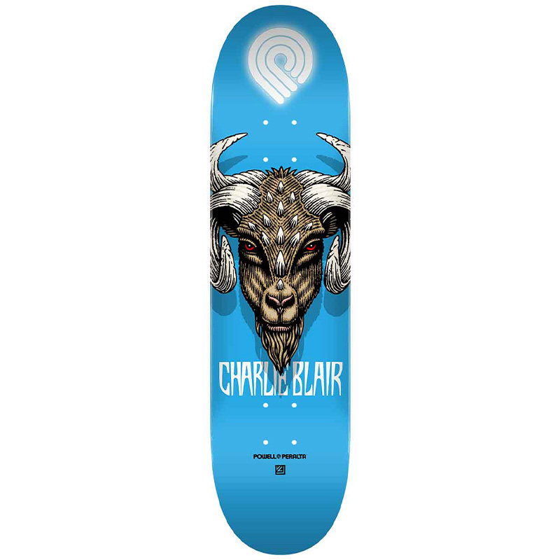 Powell Peralta Charlie Blair Goat 2 Skateboard Deck Shape 242 8.0