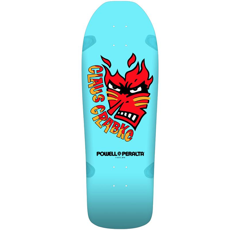 Powell Peralta Claus Grabke Skateboard Deck 287 Aqua 10.25