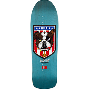 Powell Peralta Frankie Hill Bull Dog Skateboard Deck Blue 10.0