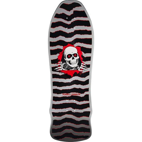 Powell Peralta Gee Gah Shape Ripper Skateboard Deck Silver 9.75