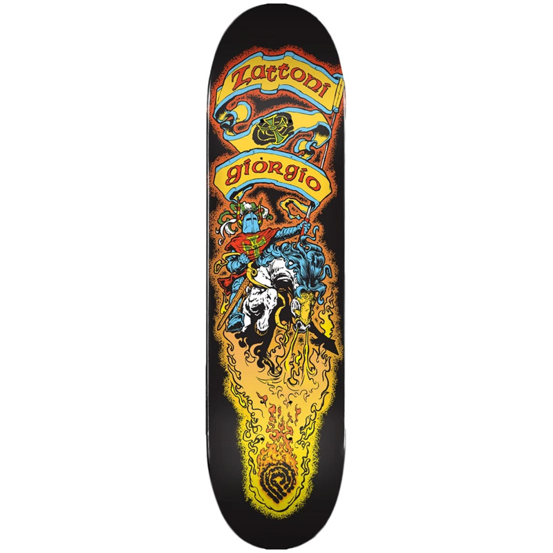 Powell Peralta Giorio Zattoni Crusader Skateboard Deck Shape 247 8.0