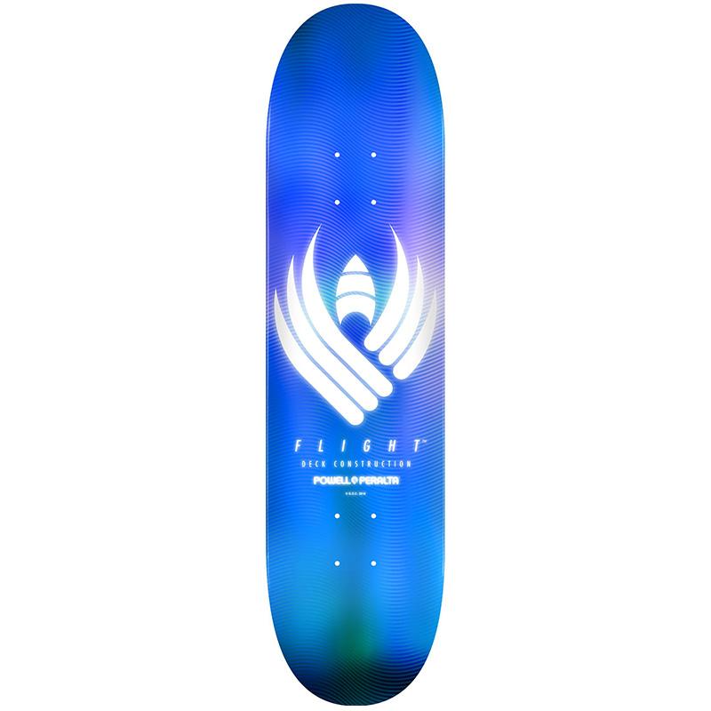 Powell Peralta Glow Flight Skateboard Deck Blue Shape 246 9.0