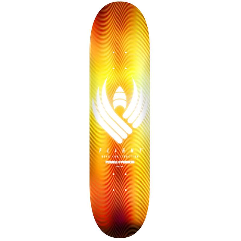 Powell Peralta Glow Flight Skateboard Deck Gold Shape 249 8.5