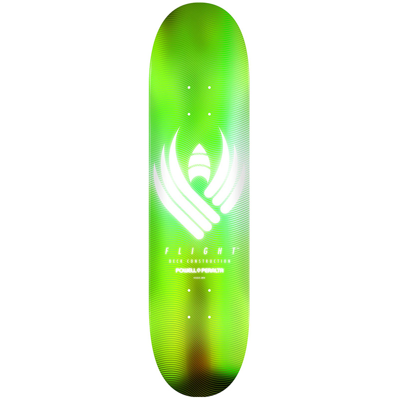 Powell Peralta Glow Flight Skateboard Deck Lime Shape 245 8.75