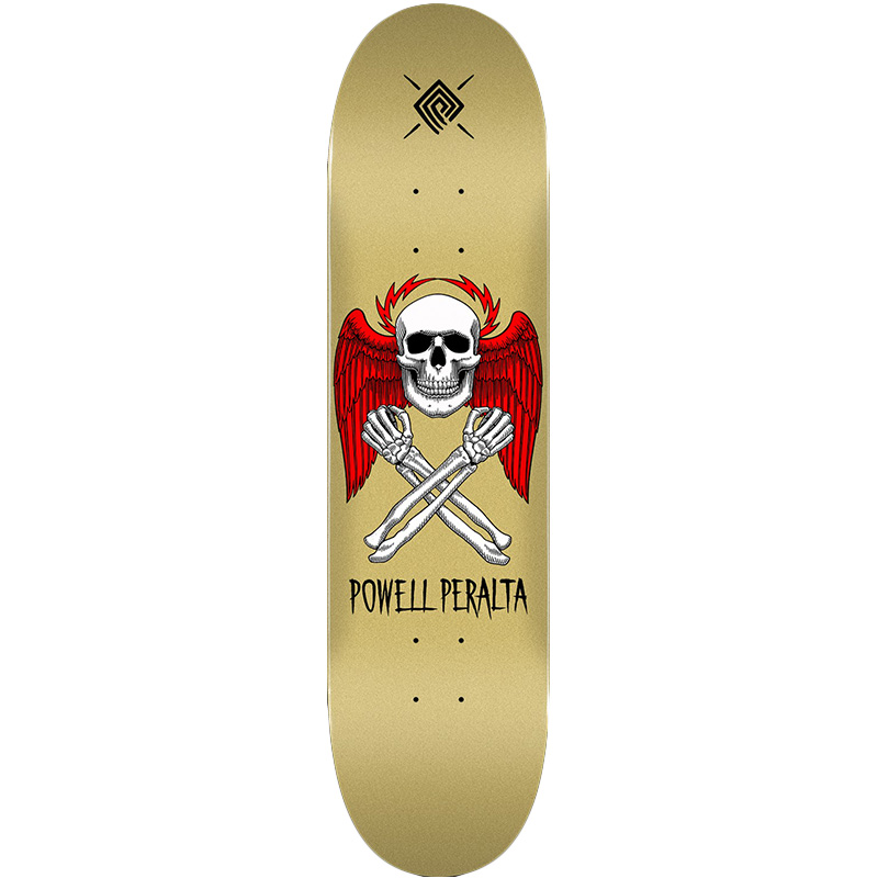 Powell Peralta Halo Bolt Skateboard Deck Gold Shape 247 8.0