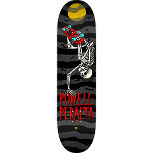 Powell Peralta Handplant Skelly Skateboard Deck Charcoal  8.0