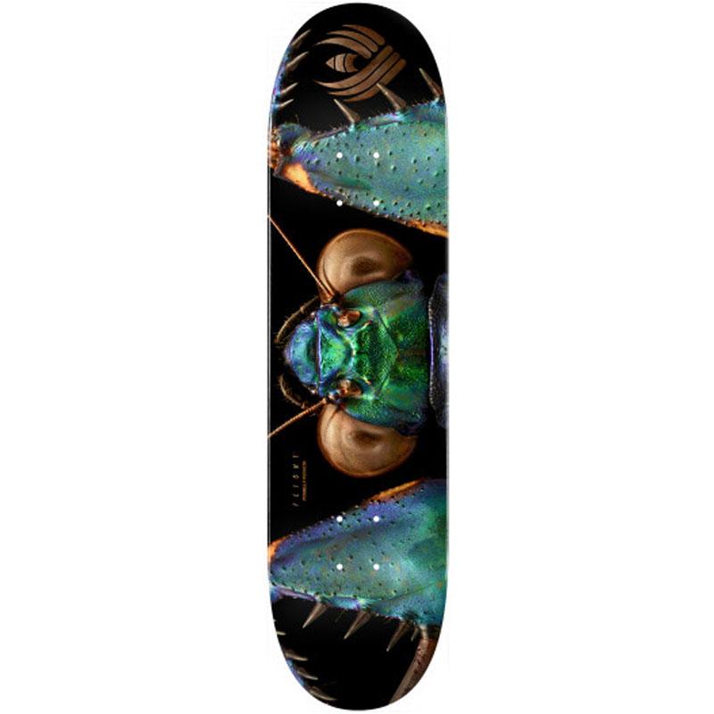 Powell Peralta Levon Biss Iridescent Bark Mantis Flight Skateboard Deck Shape 245 8.75