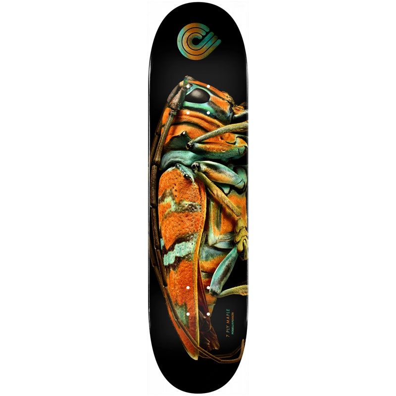 Powell Peralta Levon Biss Jewel Longhorn Beetle Skateboard Deck Shape 246 9.0