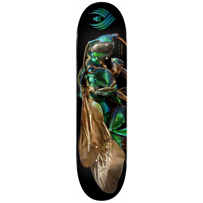Powell Peralta Levon Biss Orchid Cuckoo Bee Flight Skateboard Deck Shape 242 8.0