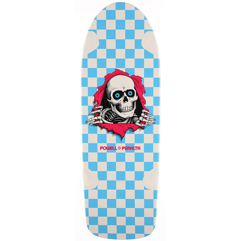 Powell Peralta O.G. Ripper 7 Skateboard Deck White/Turquoise 10.0