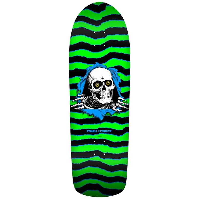 Powell Peralta Old School Ripper Skateboard Deck Shape 144 Green/Black 10.0