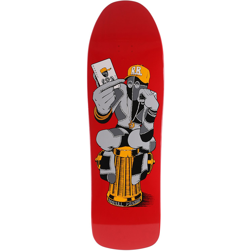 Powell Peralta Ray Barbe Hydrant Skateboard Deck Red 9.75
