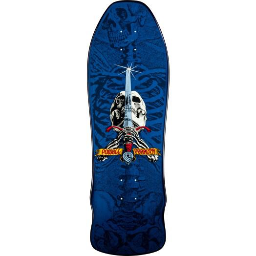 Powell Peralta Ray Rodriguez Geegah Skull & Sword Skateboard Deck Blue 9.75