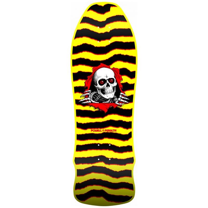 Powell Peralta Ripper Gee Gah Skateboard Deck Yellow 9.75