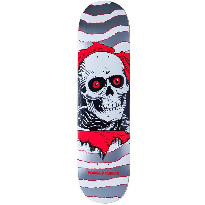Powell Peralta Ripper One Off Skateboard Deck Shape 242 Silver 8.0