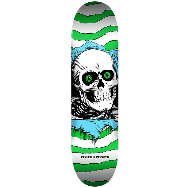 Powell Peralta Ripper One Off Skateboard Deck Shape 255 Green 7.5