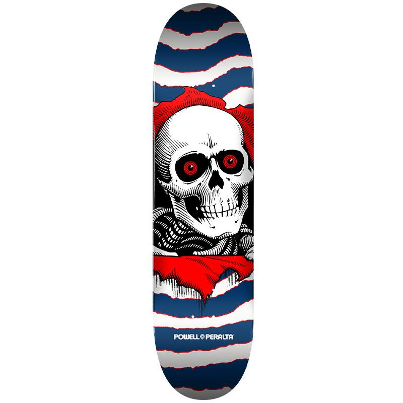 Powell Peralta Ripper One Off Skateboard Deck Shape 291 Navy 7.75