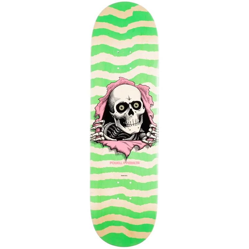 Powell Peralta Ripper Skateboard Deck Shape 246 Green 9.05
