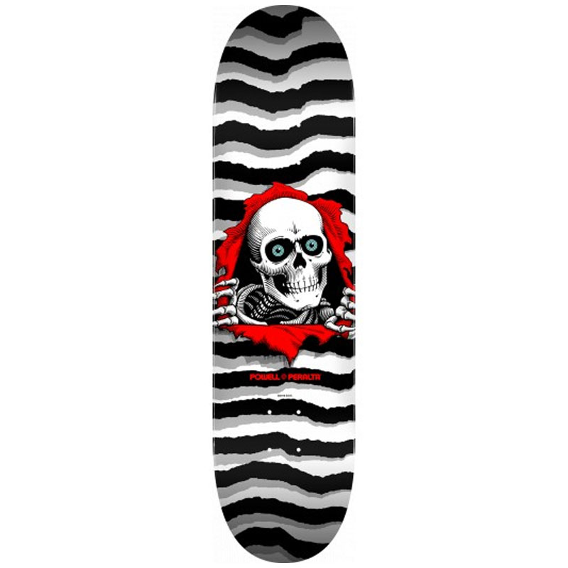 Powell Peralta Ripper Skateboard Deck Shape 247 White 8.0