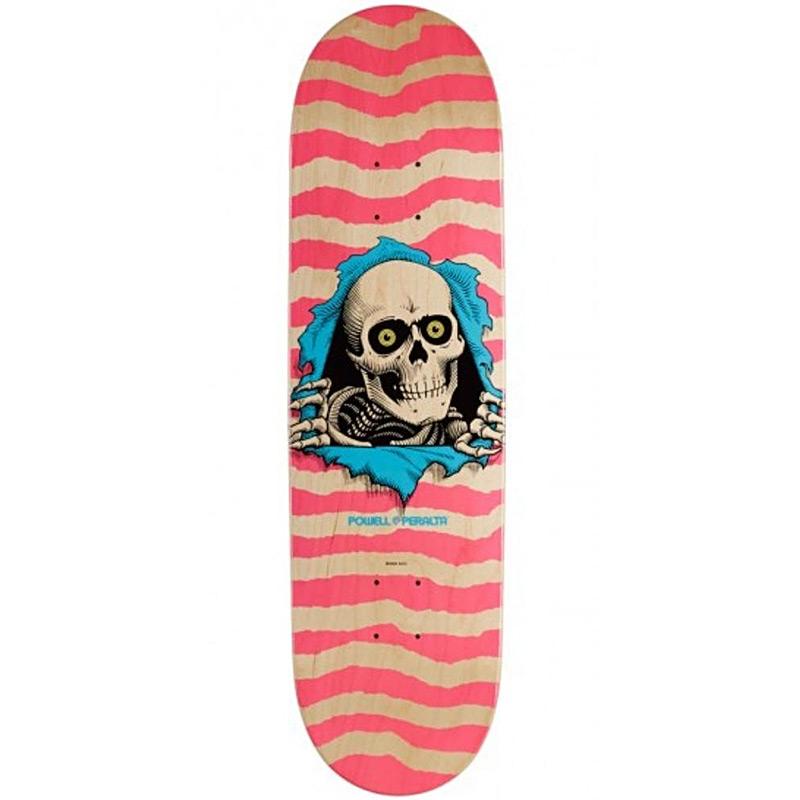 Powell Peralta Ripper Skateboard Deck Shape 249 Pink 8.5