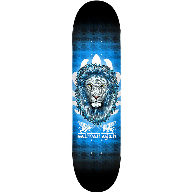 Powell Peralta Salman Agah Lion 3 Skateboard Deck Shape 242 8.0