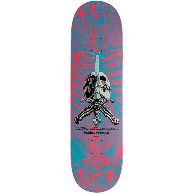 Powell Peralta Skull & Sword Skateboard Deck Shape 245 Pink 8.75