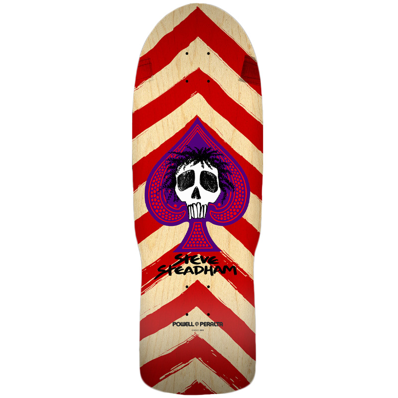 Powell Peralta Steadham Spade Skateboard Deck Red/Natural 10.0
