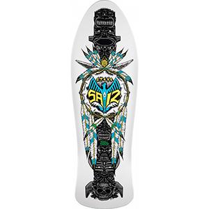 Powell Peralta Steve Saiz Totem Skateboard Deck White 10.0