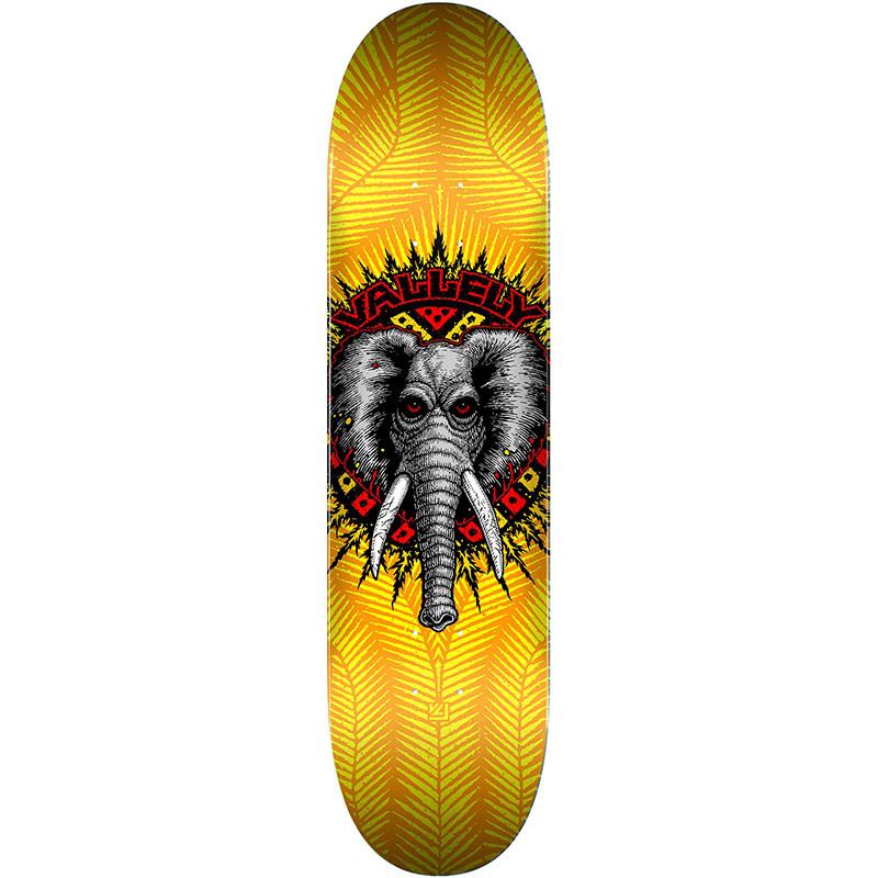 Powell Peralta Vallely Elephant Skateboard Deck Shape 242 Yellow 8.0