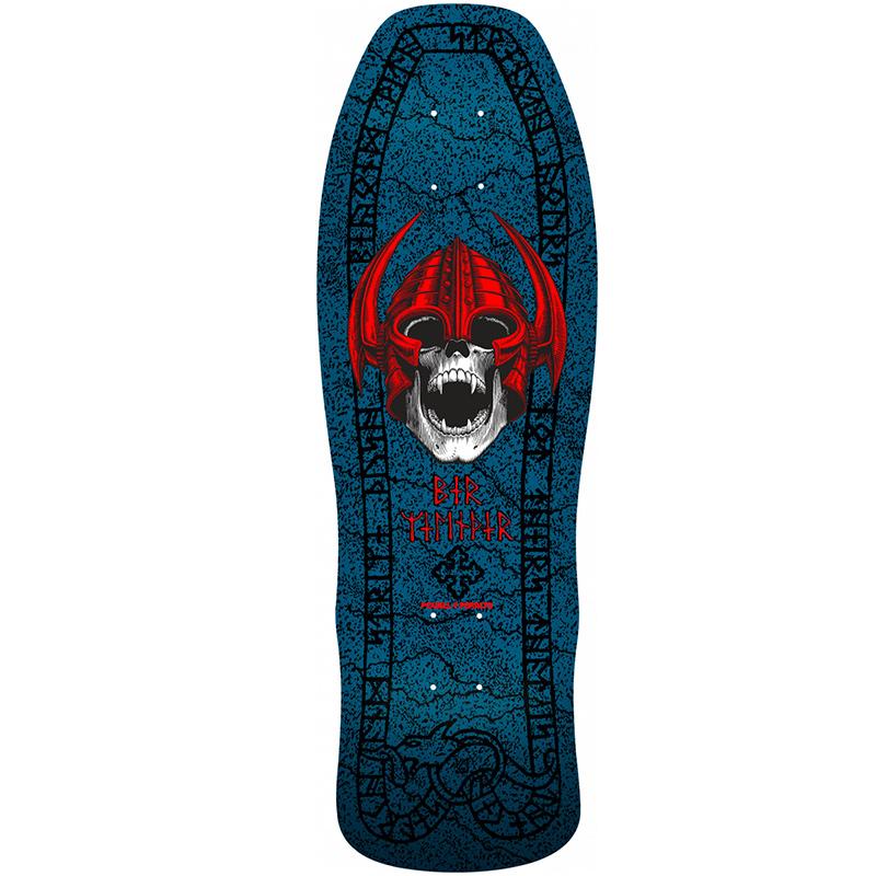 Powell Peralta Welinder Nordic Skull Skateboard Deck Blue Shape 193 9.625