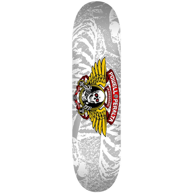 Powell Peralta Winged Ripper Skateboard Deck Shape 242 Silver 8.0