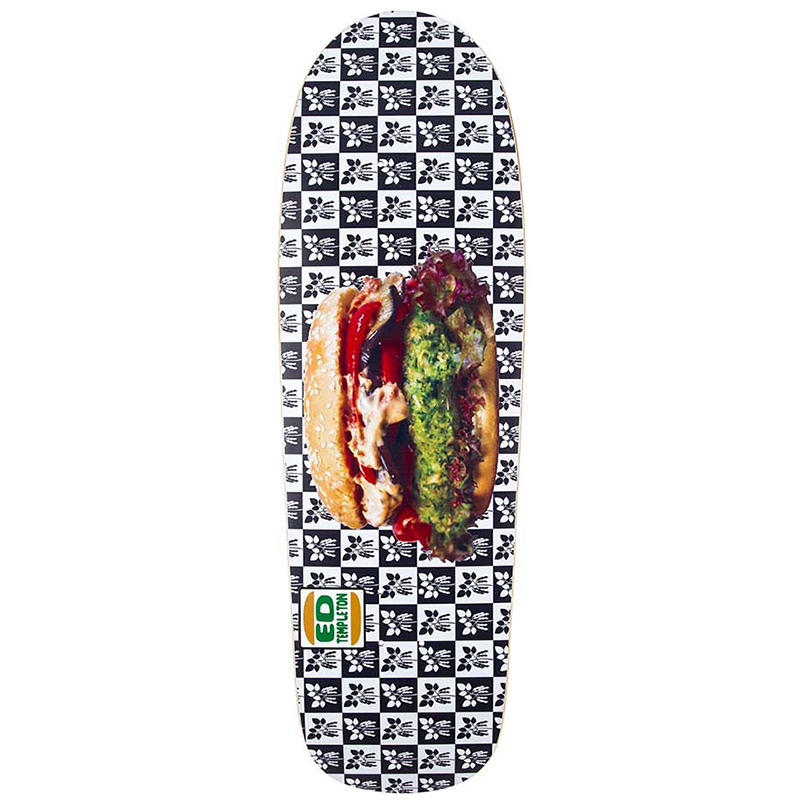 Prime Ed Templeton Veggie Burger Slick Skateboard Deck 9.875