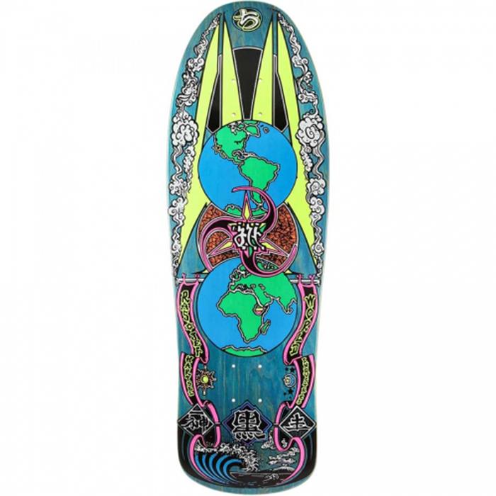 Prime Heritage Jef Hartsel Globes Original Old School Shape Skateboard Deck 10.0