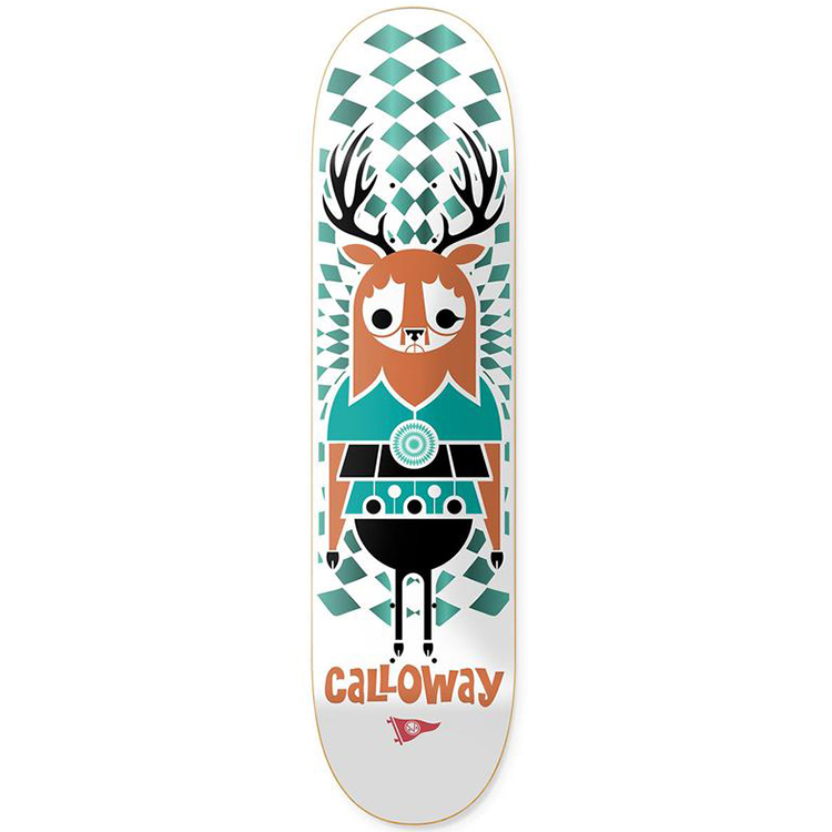 Primitive Calloway Pendleton Zoo Skateboard Deck 8.5
