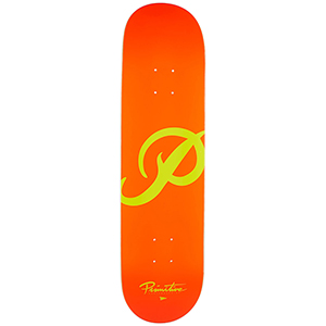 Primitive Classic P Skateboard Deck Orange/Yellow 8.5
