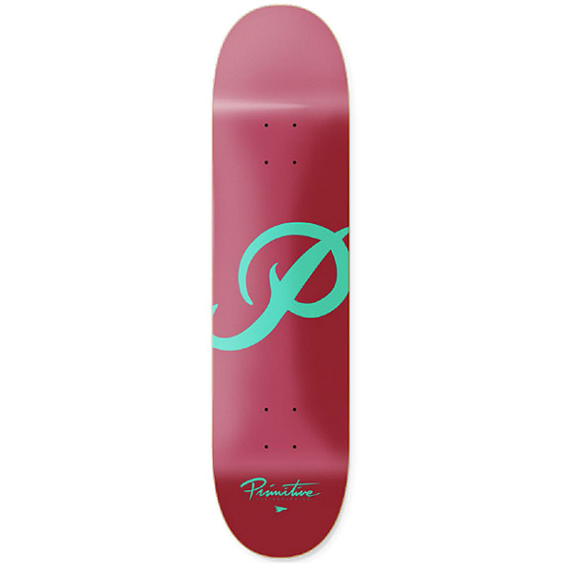 Primitive Classic P Team Skateboard Deck Pink/Blue 7.5