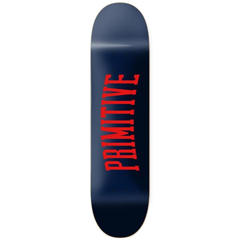 Primitive Collegiate Core Skateboard Deck Navy 7.5