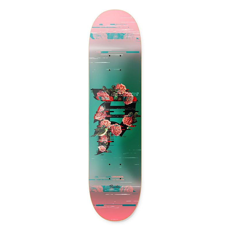 Primitive Dirty P Glitch Skateboard Deck Teal 8.0