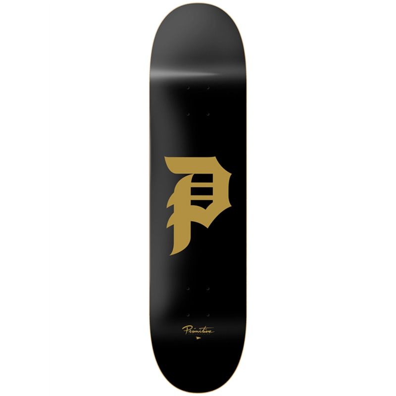 Primitive Dirty P Skateboard Deck Black 8.5