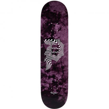 Primitive Dirty P Waves Skateboard Deck Purple 8.0