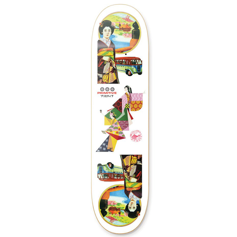 Primitive Far East Skateboard Deck Multi 8.38
