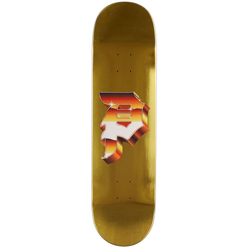 Primitive Heavyweight Dirty P Skateboard Deck Gold 8.125